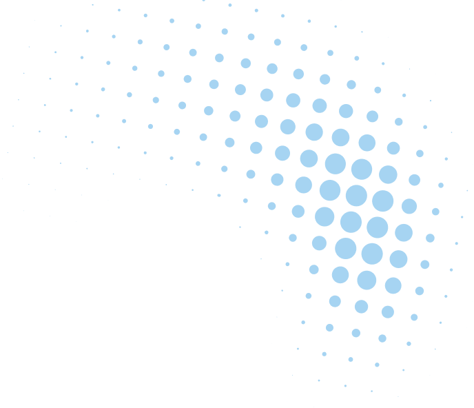 blue dots forming an arc